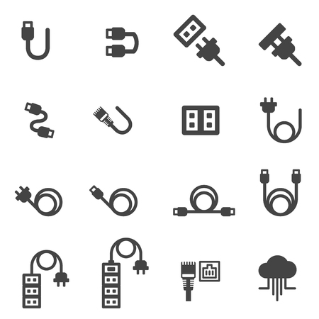 cable icons vector illustration 矢量图片