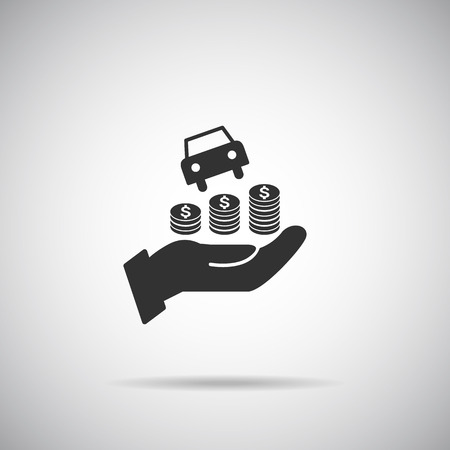 hand service car icon Illustration