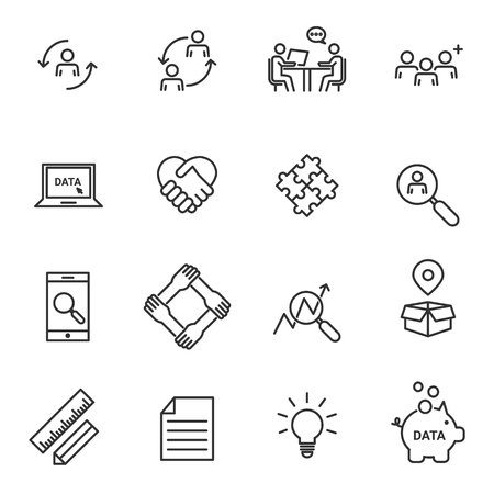 Human resources and management icons vector illustration.