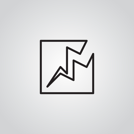 Earthquake Icon . Line symbol vector illustration