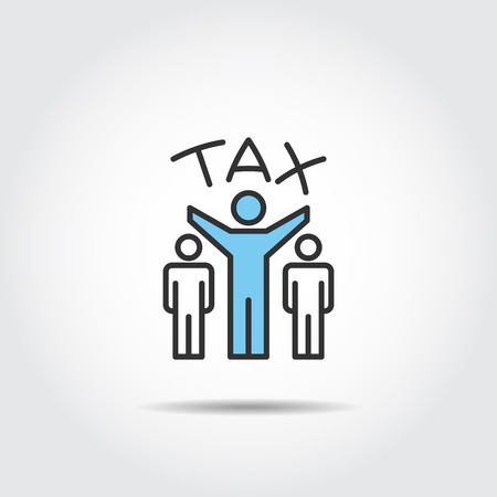 tax icon silhouette vector with men