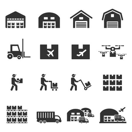 vector icono de almacén Ilustración de vector