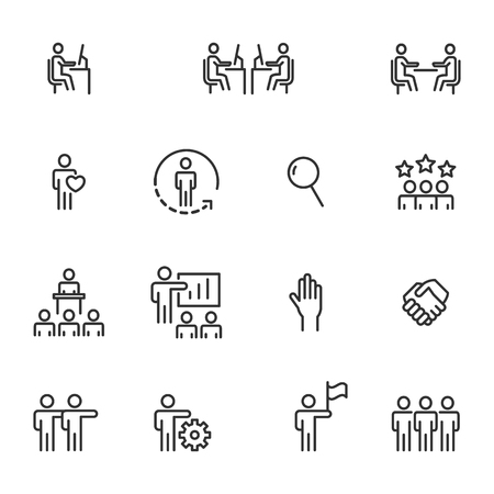People Icons Line Work Group Team Vector Ilustrace