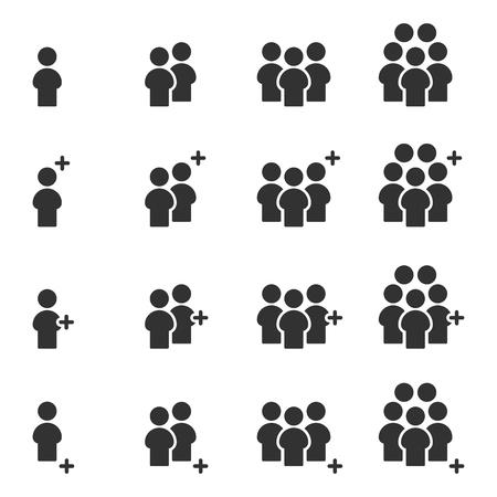Vector de equipo de grupo de trabajo de iconos de personas