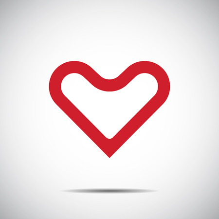 Heart Red Icon Vector , Love Symbol  Valentine's Day 일러스트