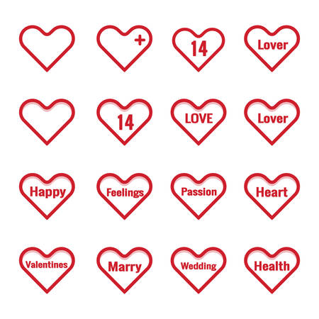 Heart Red Icon Vector , Love Symbol  Valentine's Day Çizim