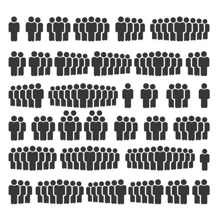 Icone di persone, gruppo di lavoro persona Team Vector