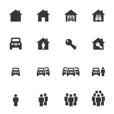People Icons Business Vector Ilustrace