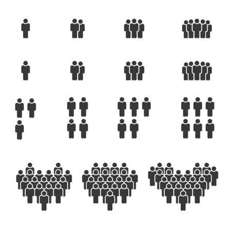 Icone di persone, gruppo di lavoro di persone Team Vector