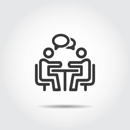 meeting icon business vector illustration Çizim