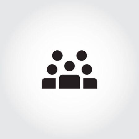 People Icon work group Team Vector Фото со стока - 129782281