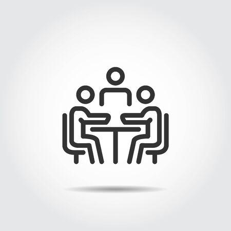 meeting icon. vector illustration
