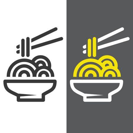 noodle icon vector illustration