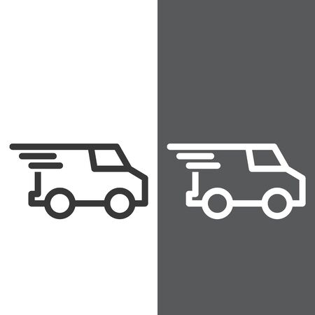 Truck icon Fast Shipping Delivery Vehicles Vector Stock Vector - 129782215