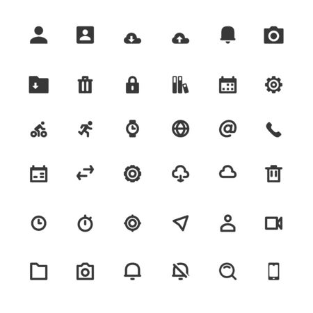 Business Web Icons Set Vector Illustration