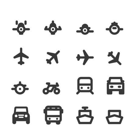 Transportation icons set vector illustration