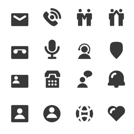 People And Contact Icons Vector Illustration
