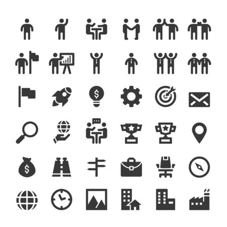 People Icons, Person work group Team Vector Standard-Bild - 134588523