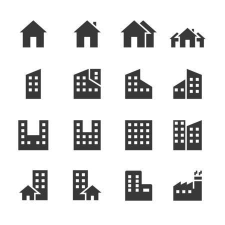 Gebäudesymbole. Vektor-Illustration