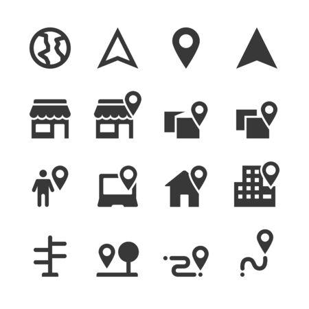 vector de ubicación de icono de marcador de mapa
