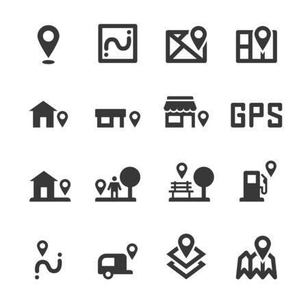 map marker icon location vector Vecteurs