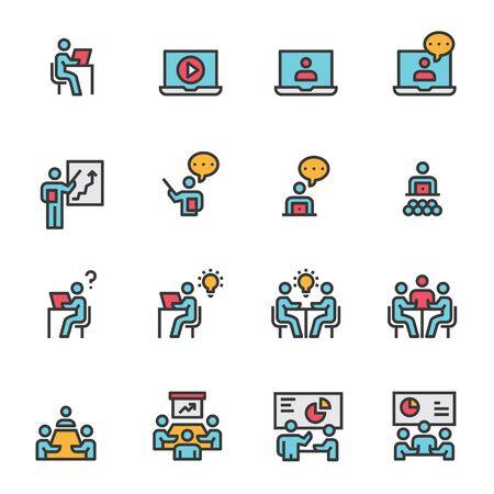 meeting icon vector illustration .