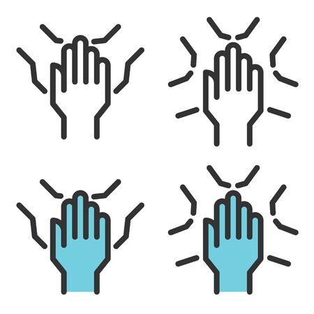 hands support icon vector, teamwork, meeting, negotiation Reklamní fotografie - 147221681