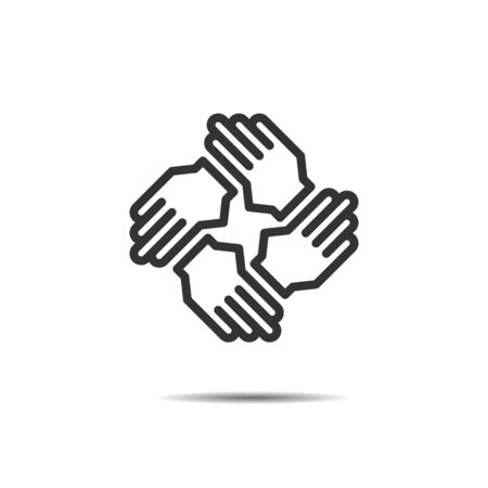 hands support icon vector, teamwork, meeting, negotiation Reklamní fotografie - 147221737