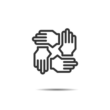 hands support icon vector, teamwork, meeting, negotiation Ilustrace