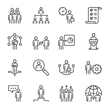 management icons . vector illustration