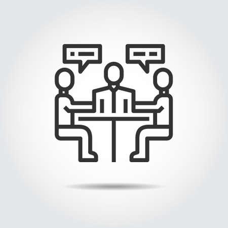 meeting icon vector illustration