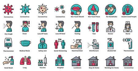 Coronavirus Related Icons Vector Illustration Vector Illustration