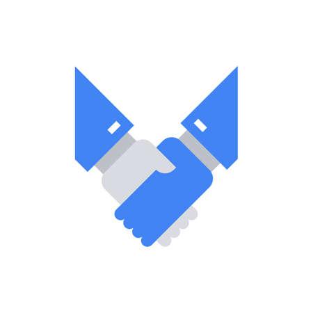 Hand Shake Icon Vector Illustration . Vektoros illusztráció