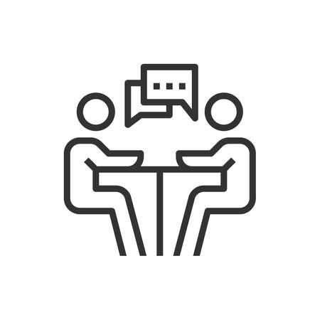 people meeting icon line business vector Ilustração Vetorial