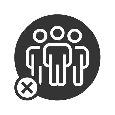 Avoid Crowd People Icon vector illustration