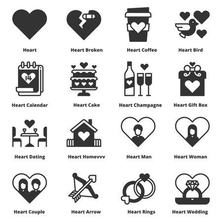 Heart Love Icons Vector Illustration