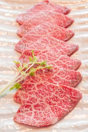 rauw vlees voor de BBQ Stockfoto