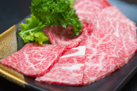 backing up: raw  meat for BBQ