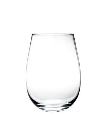 空のグラスは、白い背景で隔離