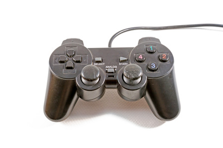 gamepads: video game controller isolated on white background Stock Photo