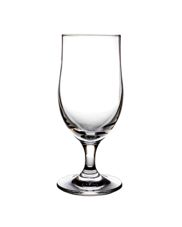 Empty glass isolated on a white background  photo