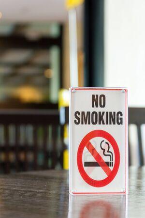 non  smoking: Signs of non smoking in restaurant .