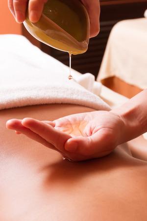 Huile de massage aromathérapie Banque d'images