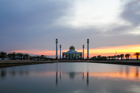 hushed: Sunset at Central Mosque, Songkhla, Thailand.
