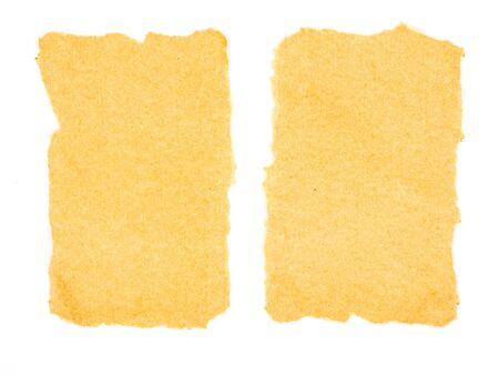 chronicle: Blank brown paper on white background