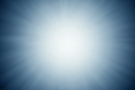 Blurred blue abstract light rays background.