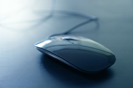 Computer mouse on the table, Soft focus