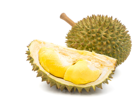 King of fruits, Durian on white background. Фото со стока - 78673348