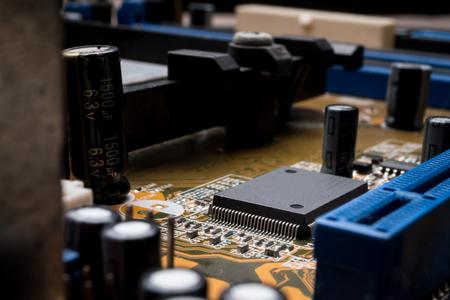 Computer circuit board, electronic technology background. Фото со стока - 84965515