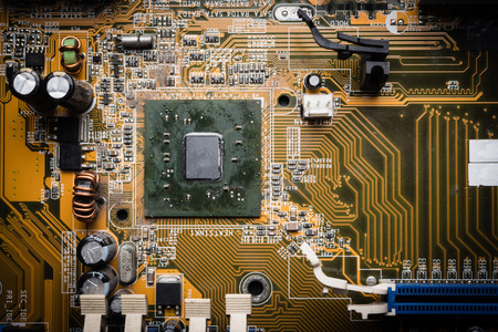 Computer circuit board, electronic technology background. Фото со стока - 84997842
